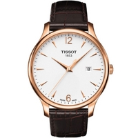 Buy Tissot Gents Traditional Rose Gold Tone Steel Watch T063.610.36.037.00 online