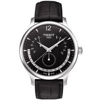 Buy Tissot Gents T Classic Black Leather Strap Watch T063.637.16.057.00 online