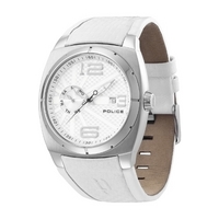 Buy Police Gents White Strap Watch 12675JS-04 online