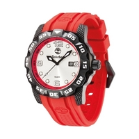 Buy Timberland Gents Belknap Red Rubber Strap Watch 13317JSB-04 online