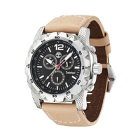 Buy Timberland Gents Front Country Cream Rubber Strap Watch 13318JS-02 online