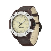 Buy Timberland Gents Chocorua Brown Material Strap Watch 13326JPBNS-07 online