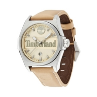 Buy Timberland Gents Back Bay Cream Leather Strap Watch 13329JS-07 online