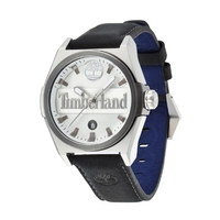 Buy Timberland Gents Back Bay Black Leather Silver Tone Watch 13329JSTU-01 online