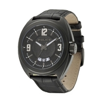 Buy Police Gents Gambler Black Leather Strap Watch 13404JSB-02 online