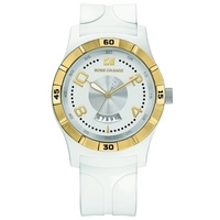 Buy Boss Orange Ladies White Rubber Strap Watch 1502249 online