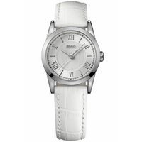 Buy Hugo Boss Ladies White Leather Strap Watch 1502305 online