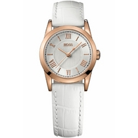 Buy Hugo Boss Ladies White Leather Strap Watch 1502306 online