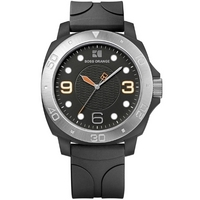 Buy Boss Orange Gents Rubber Strap Watch 1512664 online