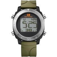 Buy Boss Orange Gents Digital Rubber Strap Watch 1512675 online