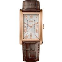 Buy Hugo Boss Gents Brown Leather Strap Watch 1512710 online