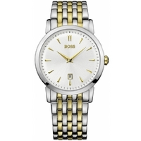 Buy Hugo Boss Gents 2 Tone Steel Bracelet Watch 1512721 online