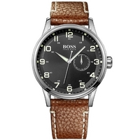 Buy Hugo Boss Gents Brown Leather Strap Watch 1512723 online