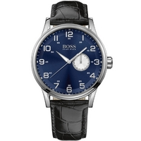 Buy Hugo Boss Gents Black Leather Strap Watch 1512790 online