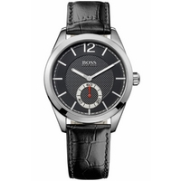 Buy Hugo Boss Gents Black Leather Strap Watch 1512793 online