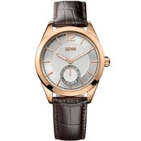 Buy Hugo Boss Gents Brown Leather Strap Watch 1512794 online