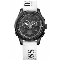 Buy Hugo Boss Gents Chronograph White Rubber Strap Watch 1512802 online