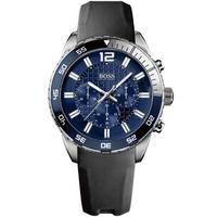 Buy Hugo Boss Gents Black Rubber Strap Watch 1512803 online