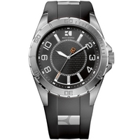 Buy Boss Orange Gents HO-2310 Black Rubber Strap Watch 1512807 online