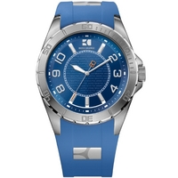 Buy Boss Orange Gents HO-2310 Blue Rubber Strap Watch 1512810 online