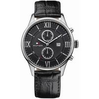 Buy Tommy Hilfiger Gents Mult Dial Black Strap Watch 1710290 online