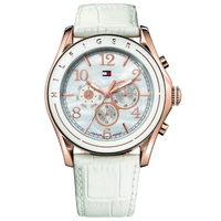Buy Tommy Hilfiger Ladies White Leather Strap Watch 1781051 online