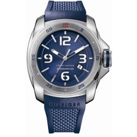 Buy Tommy Hilfiger Gents Blue Rubber Strap Watch 1790771 online