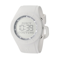 Buy Juicy Couture Ladies Digital Alarm White Rubber Strap Watch 1900880 online