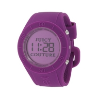 Buy Juicy Couture Ladies Digital Alarm Purple Rubber Strap Watch 1900882 online