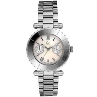 Buy Gc Ladies Mother of Pearl Stainless Steel Bracelet Watch 20026L1 online