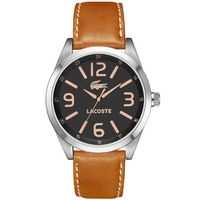 Buy Lacoste Gents Montreal Brown Leather Strap Watch 2010617 online
