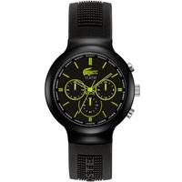 Buy Lacoste Gents Borneo Chronograph Black Rubber Strap Watch 2010650 online