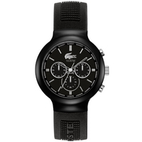Buy Lacoste Gents Borneo Chronograph Black Rubber Strap Watch 2010651 online