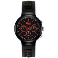 Buy Lacoste Gents Borneo Chronograph Black Rubber Strap Watch 2010652 online