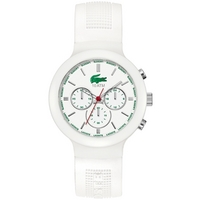 Buy Lacoste Gents Borneo Chronograph White Rubber Strap Watch 2010653 online