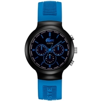 Buy Lacoste Gents Borneo Chronograph Blue Rubber Strap Watch 2010654 online