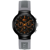 Buy Lacoste Gents Borneo Chronograph Grey Rubber Strap Watch 2010655 online