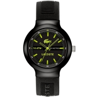 Buy Lacoste Gents Borneo Black Rubber Strap Watch 2010656 online