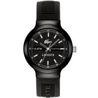 Buy Lacoste Gents Borneo Black Rubber Strap Watch 2010657 online