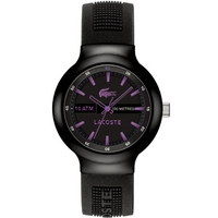 Buy Lacoste Gents Borneo Black Rubber Strap Watch 2010659 online