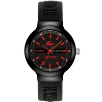 Buy Lacoste Gents Borneo Black Rubber Strap Watch 2010660 online