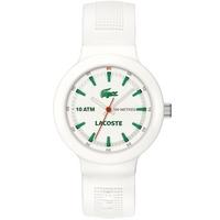 Buy Lacoste Gents Borneo White Rubber Strap Watch 2010661 online