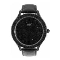 Buy LTD Unisex Black Leather Stone Set Watch 2701DA online