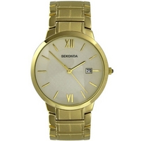 Buy Sekonda Gents Gold Tone Bracelet Watch 3037 online