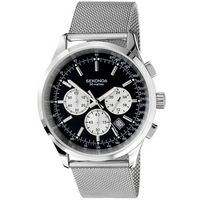 Buy Sekonda Gents Bracelet Chronograph Black Dial Watch 3415 online