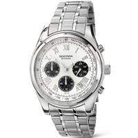 Buy Sekonda Gents Chronograph White Dial Watch 3417 online