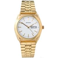 Buy Sekonda Gents Gold Tone Steel Bracelet Watch 3460 online
