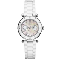 Buy Gc Ladies Mother of Pearl Ceramic Bracelet Watch 35003L1 online