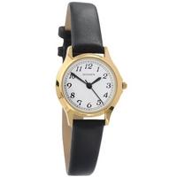 Buy Sekonda Ladies Black Leather Strap Watch 4134 online