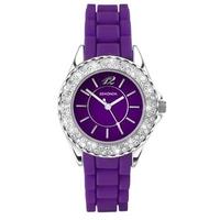 Buy Sekonda Ladies Party Time Purple Rubber Strap Watch 4449 online